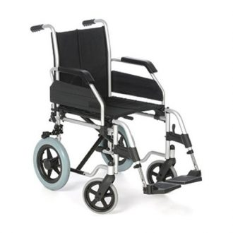 Silla de ruedas plegable de acero no autopropulsable