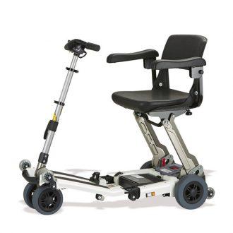 Scooter eléctrico 4 ruedas Luggie Ayudas Dinámicas Plegable de aluminio