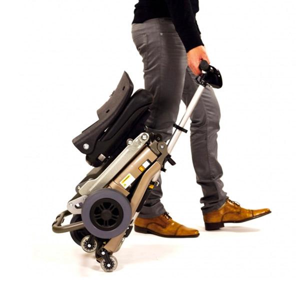 Scooter eléctrico 4 ruedas Luggie Ayudas Dinámicas Plegable de aluminio-4
