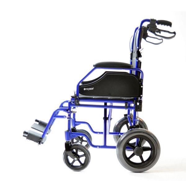 Silla de ruedas plegable ligera de aluminio Translite Uppy 1429SR de Teyder-5
