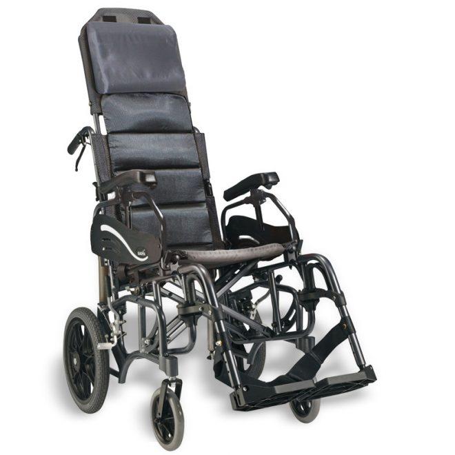Silla de ruedas plegable de aluminio basculante Karma modelo Vip
