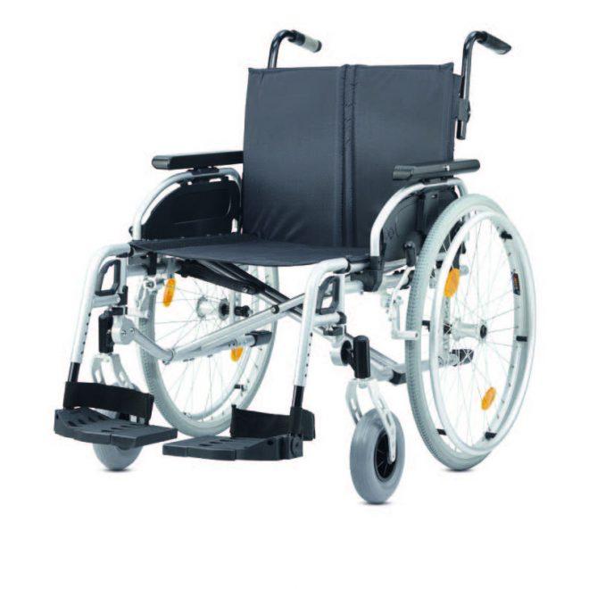 Silla de ruedas bariátrica ligera plegable autopropulsable ligera de B+B modelo Pyro Light Optima XL