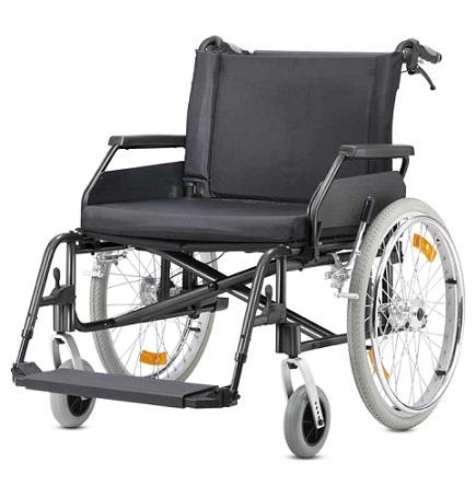 Silla de ruedas bariátrica plegable autopropulsable B+B modelo Econ XXL