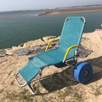Tumbona adaptada para playa y piscina Oceanic Sun