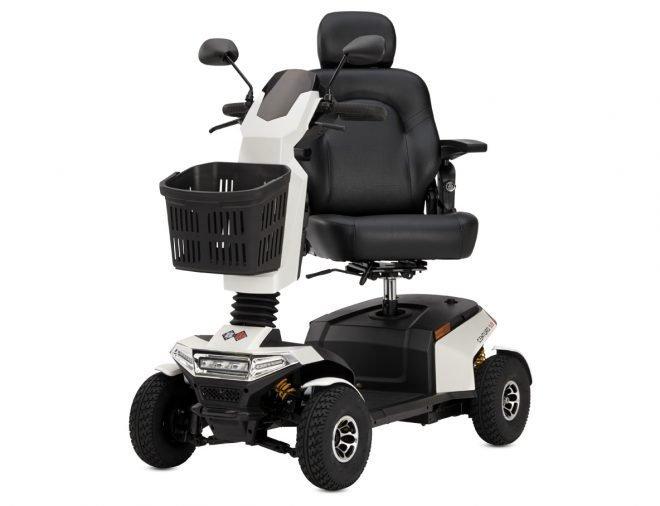 Scooter eléctrico B+B Centuro S2 vista diagonal con asiento girado