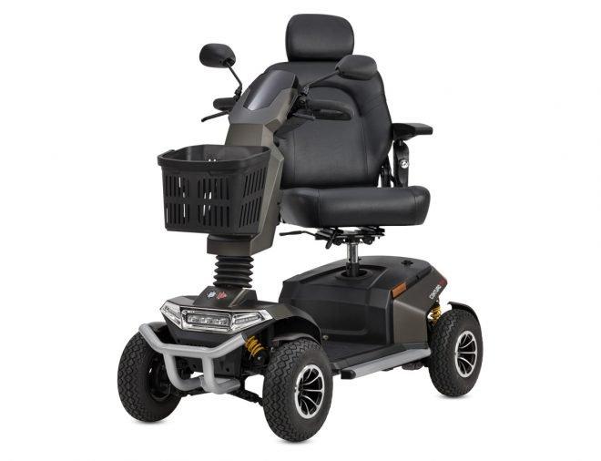 Vista lateral scooter eléctrico B+B Centuro S4 color antracita