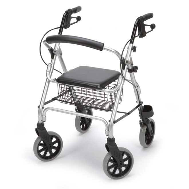 Andador rollator de aluminio con frenos 'Ergo'