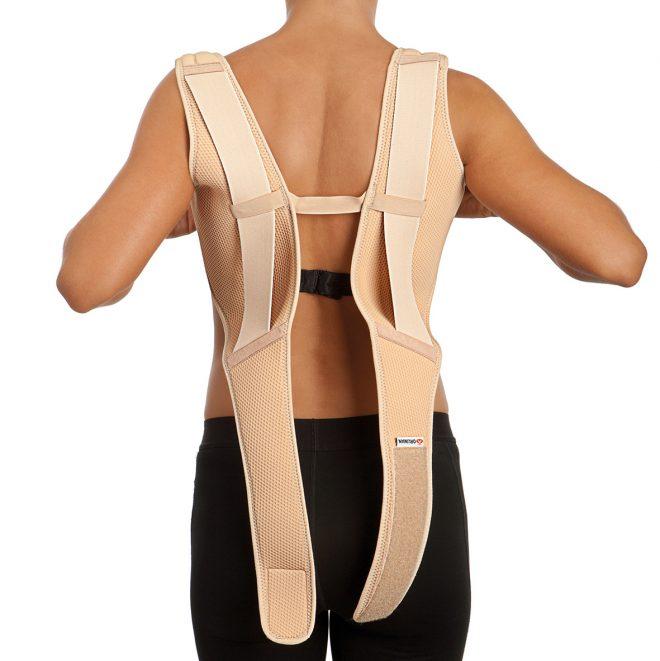 Corrector de espalda en ocho comfort Orliman vista trasera