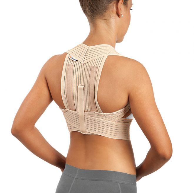 Corrector de espalda trasnpirable reforzado